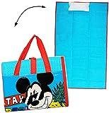 gepolsterte _ Strandmatte / Strandunterlage - ' Disney Mickey Mouse ' - 75 cm * 150 cm - faltbare Picknick Decke / als Unterlage Isomatte - für Badetuch / Handtuch - Strandtuch - Mädchen & Jungen 75x150 für Kinder - Erwachsene Badehandtuch - Playhouse / Maus