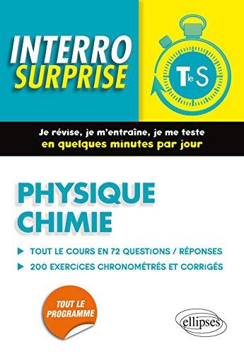 Interro Surprise Physique Chimie Tle S