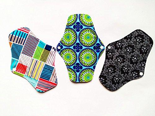 325,4cm anthrazit Bambus Tuch wiederverwendbar waschbar Pads Menstruationstasse Damenbinden Slipeinlagen -