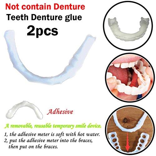 re Lächeln Comfort Fit kosmetische Zähne Prothese Kleber ()