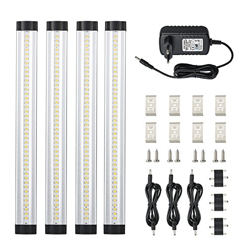 Tomshine Dimmable Ultra Thin Gabinete de Luz, 4 pcs LED Bajo Kit...