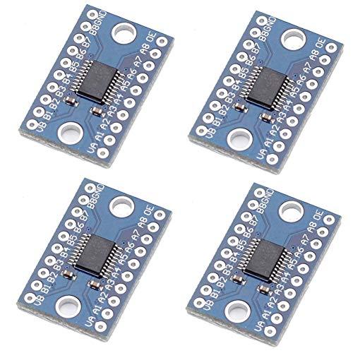 iHaospace TXS0108E 8 Channel Logic Level Converter 1.8V-3.3V 3.3V-5V Bi-Directional Bidirectional High Speed Full Duplex for Arduino Raspberry Pi (Pack of 4) -