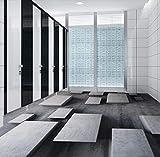 Yosot Kundenspezifische Bodenfliesen-Wand-Papier-Steingitter-Fototapete Modernes 3D Wohnzimmer-Badezimmer-Pvc-Bodenbelag-Aufkleber-Antiabnutzung-140Cmx100Cm