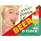 Nostalgic-Art 26213Say It 50's Beer O' Clock Lady, plaque de, 15x 20cm...