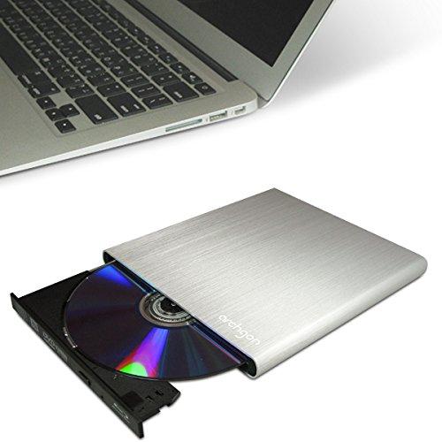 Archgon Style Argento Ultra Blu-Ray Masterizzatore DVD esterno Slim CD (Panasonic UJ-272) con USB 3.0 | alluminio spazzolato Caso | compatibile con PC e Mac | MacBook Pro | Aria | iMac in argento