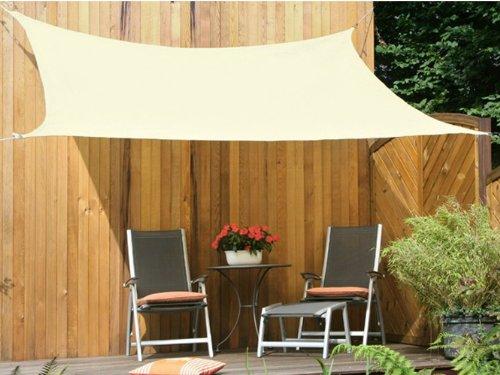 Floracord 06-77-45-00 HDPE Vierecksonnensegel 4 x 5 m weizen wind- und wasserdurchlässig inklusive...