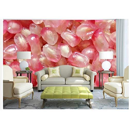 Zyzdsd Grana Di Melograno Cristallino Sfondo Estetico Di Moda Moderna Casa Miglioramento Decorazione Domestica 3D Murales-200X140CM