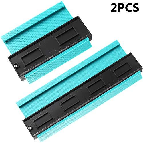 2 Stücke Konturmessgerät Duplizierer 5 Zoll 10 Zoll Multifunktionale Kontur Profil Messer Duplizierer Kanten Form Maß Lineal für Fliesen Laminat Holzbearbeitung Werkzeug