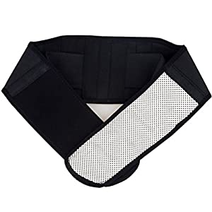 Healifty Adjustable Lumbar Brace Back Brace Support Belt for Pain Relief Size S(Black)