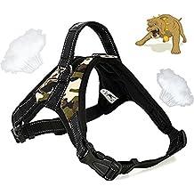 Alimao® Arnés para perros de trabajo pesado, Prevención de tirones, paño de Oxford material de rejilla con diseño especial de correa corta integrada, Collar de trabajo para perros pequeños y perros grandes - (M)