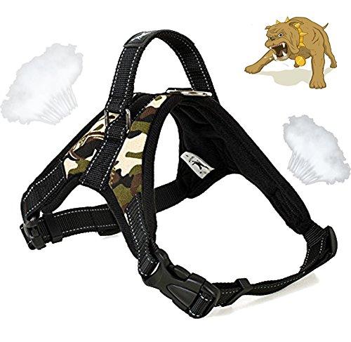 Alimao® Hunde Brustgeschirre, Verhindern Sie das Ziehen, Oxford Tuch Weste mit speziellen erweiterten integrierten kurzen Leine Design, Hundetraining Arbeitskragen für kleine mittlere und große Hunde - (L)