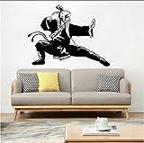 Cmhai Alte Kung Fu Wandaufkleber Krieger Vinyl Wandtattoo Home Decor Abnehmbare Kämpfer Martial Wandbild Kung Fu Kunst Wand Poster 42 * 31 Cm