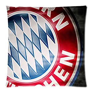 FC Bayern Munich--UEFA Champions League Awesome Football Club Logo Custom Zippered Pillow Cases 18x18 (Twin sides)