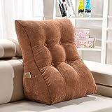 SHU-A Dreieck keil Kissen Sofa Bett büro Stuhl Rest Kissen nackenstütze ältere Schwangere Frauen universal (Farbe : Brown, größe : L: Height60cm)