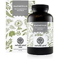 Magnesium - 2250mg Magnesiumcitrat, davon 360mg elementares Magnesium pro Tagesdosis. 180 Kapseln. Laborgeprüft und ohne Magnesiumstearat. Hochdosiert, vegan, hergestellt in Deutschland