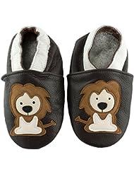SmileBaby Premium Leder Lauflernschuhe Krabbelschuhe Babyschuhe mit verschiedenen Motiven