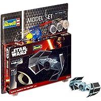 Revell Star Wars Juego Darth Vader 's Tie Figh en Kit Modelo con Base Accesorios, fácil Pegar y para pintarlas, Escala 1: 121 (63602), Largo 7.1 cm