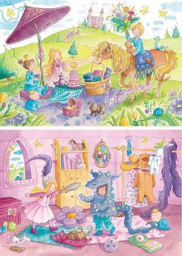 Preisvergleich Produktbild Ravensburger 08988 - Im Schlossgarten - 2x 20 Teile Puzzle