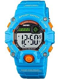 CakCity - Reloj de pulsera digital para niños, deportivo, resistente al agua, antigolpes, para niños