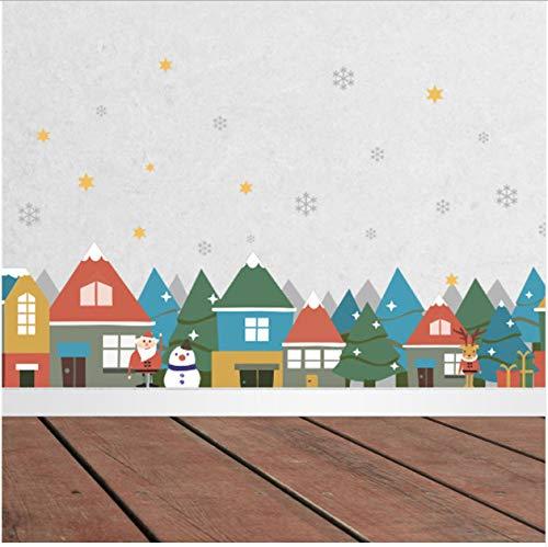uphold Awake Weihnachtsdorf Schneeflocke Wandaufkleber Schaufenster Glas Aufkleber Party Wohnzimmer Dekoration Neujahr Decor Weihnachten Wandbild Poster