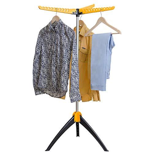 art moon Elm Wäscheständer fuer Hemden, Faltbarer Wäscheständer Platzsparend, Klappbarer Kleiderstaender, Bügelwäscheständer für 63 Kleiderbügel, 60X57X130 cm