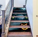 DFGTHRTHRT 3D Simulation Treppenaufkleber entfernbare Wasserdichte Wandaufkleber Schlafzimmer Wohnzimmer DIY Tapete Wandabziehbilder (Color : WLT008, Size : OneSize)