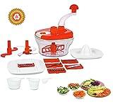 Floraware 14-Piece Food Processor, Atta Maker, Dough Kneader (Red)