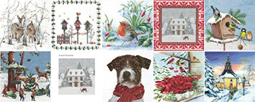 Zita's Creative Servietten Set mit Decoupage-Kleber - Winter 1. Decoupage, Serviettentechnik,