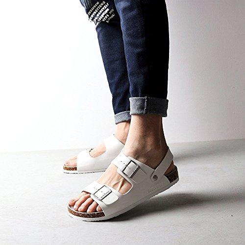 Sommer sandalen, Herren Sandalen Sommer männliche Fahrschuhe Paar Strandschuhe (schwarz / weiß) Farbe / Größe optional ( Farbe : Weiß , größe : EU43/UK9.5/CN45 ) Weiß
