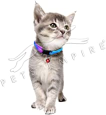 Pets Empire Colorful Cat Collar with Bell, Adjustable Rainbow Collars for Cat Kitty Puppy Rabbit Small Animals - 1 Pcs