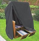 Komfort Schutzhülle XXL Abdeckung für Strandkorb B130xT100xH170 cm anthrazit