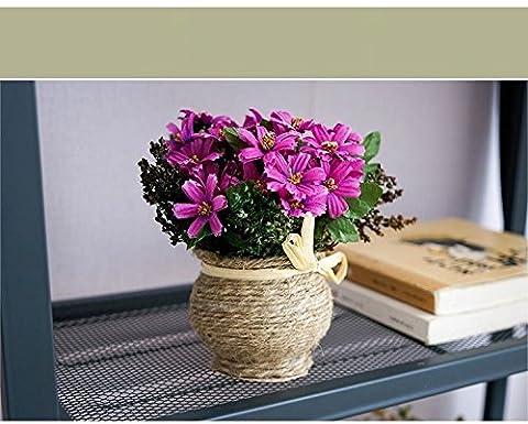 NOHOPE Innovative Blumentöpfe Künstliche Blumen Pflanzen Home Office Indoor Emulation blühende Pflanzen Topfpflanzen kreative Geschenke