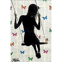 Posterlounge Cuadro Sobre Lienzo 120 x 180 cm: Butterfly Swing hr1 de Loui Jover -