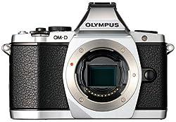 Olympus Camera OMD EM-5 Silver (Only Body) with 8GB Card