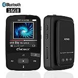 CFZC MP3-Player mit Bluetooth, 16 GBit-Bluetooth-MP3-Player mit Clip, unterstützt FM-Radio, erweiterbarer Mikro-SD-Steckplatz, unterstützt 64 Gbit