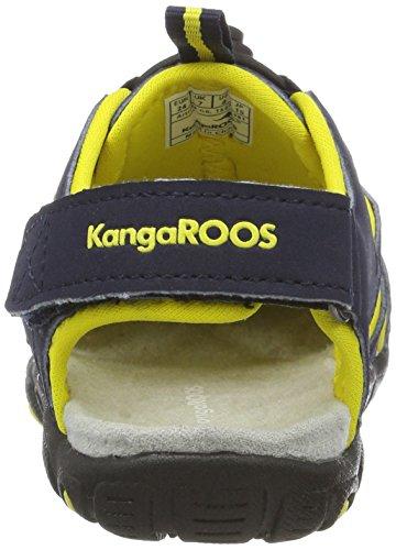 KangaROOS Kangaspeed X1, Sandales Bout Fermé Mixte Enfant Bleu (Dk Navy/Yellow)