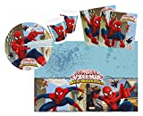 Procos 10108558B - Set di accessori per feste dei bambini, motivo Ultimate Spiderman - Web Warriors, misura S, 37 pz
