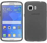 TBOC® Funda de Gel TPU Negra para Samsung Galaxy Young 2 G130 HN de Silicona Ultrafina y Flexible