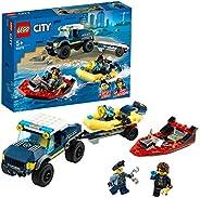 LEGO 60272 City Elite Police Boat Transport Toy with Floating Pontoon
