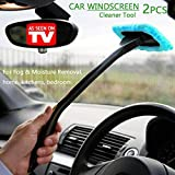 Car Windscreen Cleaner Tools From Inside Window Glass Cleaning Tools Great for Fog & Moisture Removal (Light Blue)