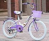 Qian Yi Sicherheits Kinderfahrrad mit Umwerfer und Scheibenbremse, Faltbar Premium Kinderfahrrad, Mädchenfahrr Stufe 6 Variable Speed (Lila, 26 Zoll)