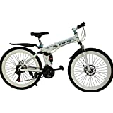 Gogo A1 Behee Mountain Bicycle With Folding High Carbon Steel Frame And 26'' Spoke Wheels, White