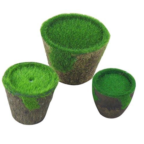 HUPLUE Macetas decorativas de estilo rural para jardín, jardín, jardín, jardín, jardín, etc, Small