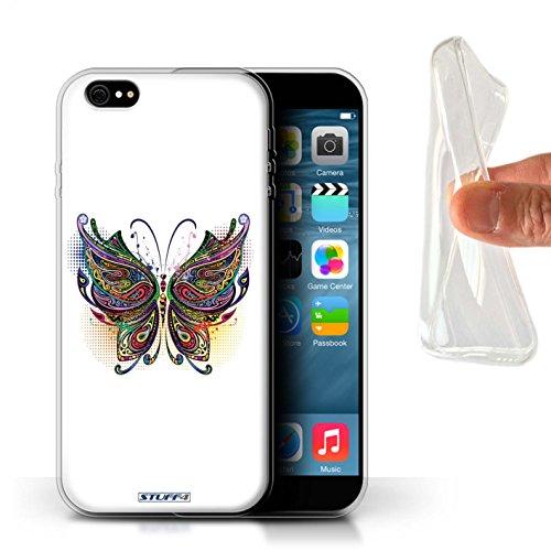Stuff4 Gel TPU Hülle / Case für Apple iPhone X/10 / Katze Muster / Deko-Tiere Kollektion Schmetterling