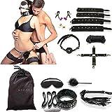 HOT DREAMS Bondageset Sex Fesseln 11 Teilig, SM Sexspielzeug für Paare, Frauen und Männer, extrem BDSMS Spielzeug Set