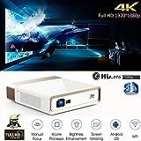 FidgetGear WiFi Smart Projector 1920x1080P 3D HD Cinema 10000 Lumens DLP Android 4K