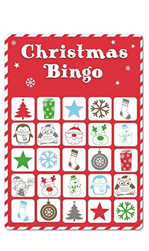15 Christmas Bingo Cards Xmas Party Stocking Gift Bag Filler Family Kids Office Home Pub Bar Secret Santa Game by Concept4u