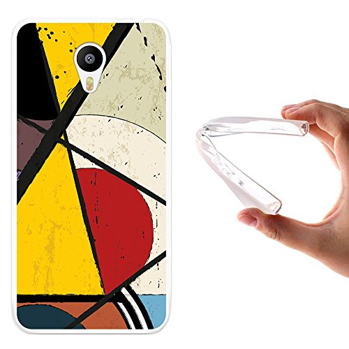 Meizu m2 note Hülle, WoowCase Handyhülle Silikon für [ Meizu m2 note ] Geometrische Formeln Dreieck 2 Handytasche Handy Cover Case Schutzhülle Flexible TPU - Transparent