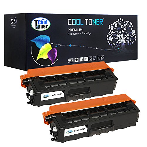 Preisvergleich Produktbild 2 Pack Cool Toner kompatibel Toner TN-326BK TN 326BK TN-326 BK Schwarz Tonerkartusche für Brother HL-L8250CDN HL-L8350CDW HL-L8350CDWT, MFC-L8600CDW MFC-L8850CDW, DCP L8400CDN DCP L8450CDW; 4000 Seiten