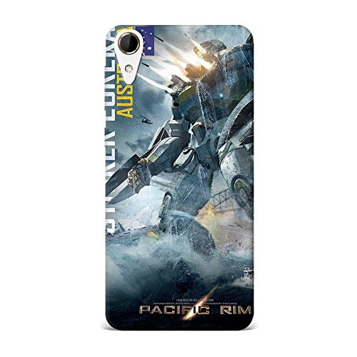 HTC 728 Case, HTC 728 Hard Protective SLIM Printed Cover [Shock Resistant Hard Back Cover Case] for HTC 728 - striker eureka pacific rim movie mobile